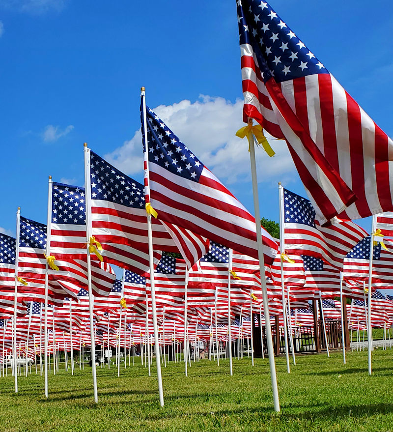 Honoring The American Flag over Memorial Day Weekend